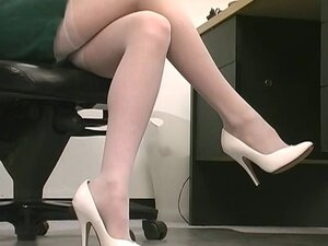 White girl bends over chair while spreading pussy and asshole