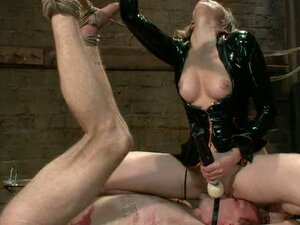 A milf ties up a man and makes him realise her wishes!