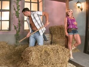 This kinky blonde cowgirl fantasies come true
