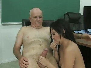 Old Professor Fucks Young Hot Student