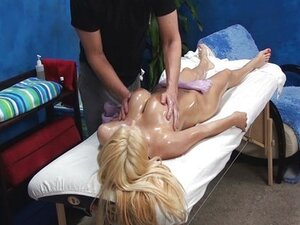 Big tits amateur seduced in massage room