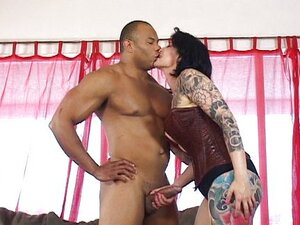 Tattooed MILF torn apart by black hunk