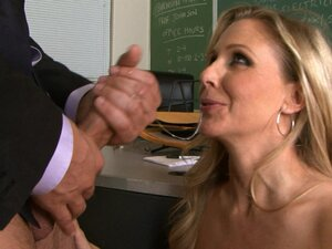 Busty teacher gets nailed hard