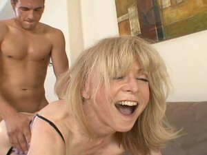 The busty whore Nina Hartley is poked in doggy position