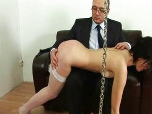Spanking time for young lazy secretary