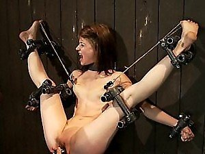 Flexible Slut Now With Legs Spread Open For BDSM Action