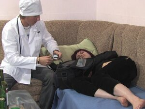 Sexy redhead babe being fucked by her personal doctor