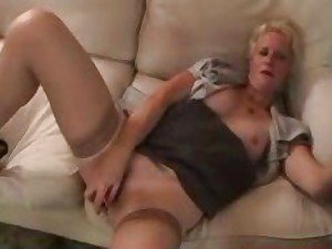 Granny in stockings drilled by his hard cock