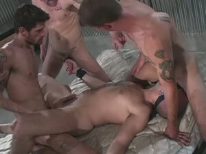 Scott christensen, ricky sinz and ryan jamison in forced gangbang