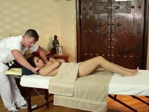 Asian babe convinced to get breast massage