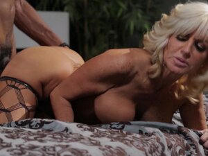 Blonde mom fucked by black stud