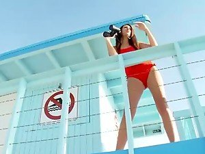 Gorgeous Lifeguard Saves A Life & Takes A Cock