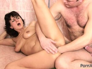 Chelsea has him stretching her holes with his cock and his fist and she loves it