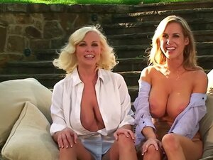Blouse babes flash their big tits