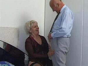 GRANNY AWARD 47 hairy mature with a old  man