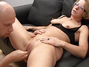 Fucking her mature ass and fisting her pussy