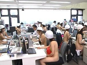 Hot Asian Babes getting Naked In the Office