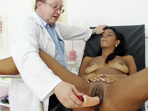 Pussy exam includes pissing test