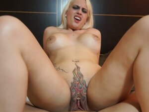 Fiery pussy fucked and creampied by a monster cock