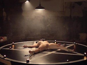 Freaky Dudes Torturing Gals For Their Satanic Rituals