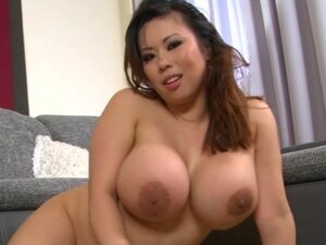 Huge tits asian in naughty solo