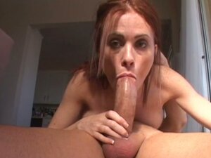 Ginger takes all his cum