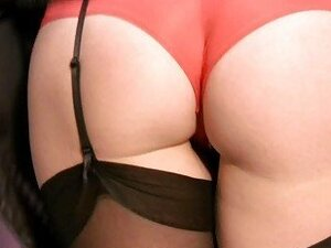Horny MILF in Stockings and Panties Plays Solo