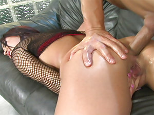Eva Angelina is always a pleasure to watch, and in this scene she shows us her Anal side...and is it ever fucking nice! This slut has got everything that a Pornstar should have, and then some extra's! Her hot oily ass is perfect as she bends over and take