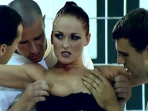 Donna Marie Gets Covered With Cum In Hardcore Gangbang