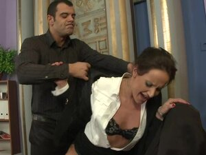 The Boss Checks His Secretary's Limits Out By Pushing Them To The Max