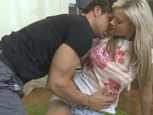 Blonde rides big cock to a creampie