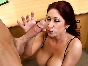 Dirty redhead MILF fucks young teacher in college after classes. Facial