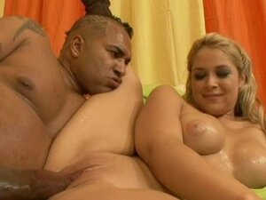 Alluring big-tot blonde was fucked by big black dick