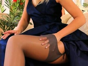 Blue shoes and sexy skirt and panties